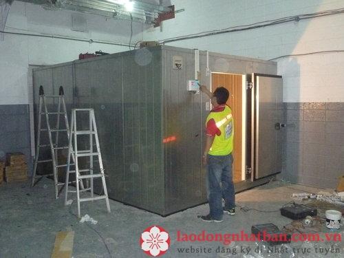 Đơn hàng lắp đặt tủ đông làm việc tại Saitama, Nhật Bản lương cao không yêu cầu kinh nghiệm