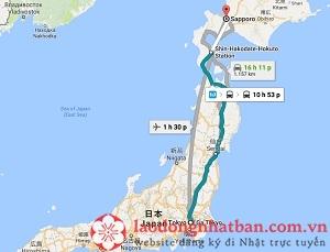 Khoảng cách từ Tokyo đến Sapporo, Hokkaido là bao nhiêu? Có những cách đi nào?