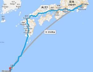 Tokyo cách Okinawa là bao nhiêu km? Hướng dẫn tất cả các cách đi