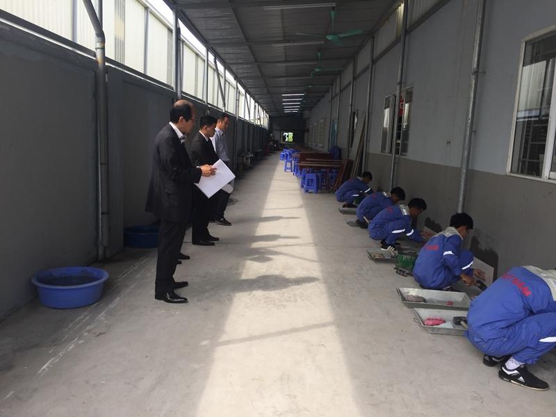 Video thi tuyển đơn hàng ốp gạch tại công ty TTC Việt Nam