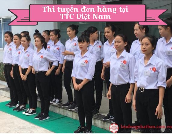 Bài thi thể lực đơn hàng cho Nữ đi XKLĐ Nhật Bản tại TTC Việt Nam