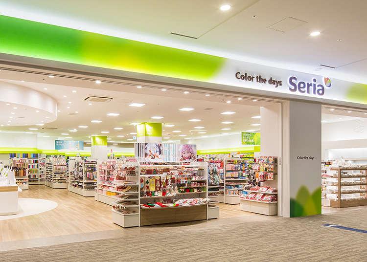 Không gian thoáng đãng, đẹp mắt của các cửa hàng Seria shop