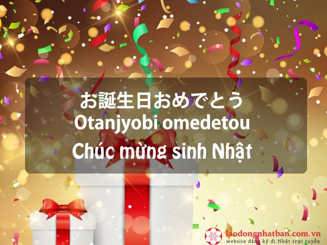 Tổng hợp những câu chúc mừng sinh nhật tiếng Nhật bằng hình ảnh ý nghĩa nhất