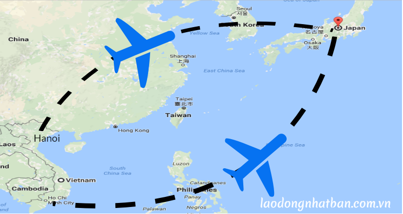Bay từ Việt Nam sang Nhật Bản mất bao lâu và ngược lại?