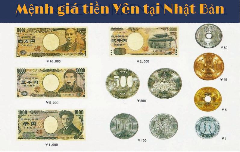 Tiền Yên Nhật Bản gồm 2 loại là tiền kim loại và tiền giấy