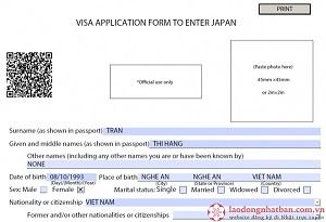 Hướng dẫn chi tiết cách điền mẫu đơn visa đi Nhật mới nhất năm 2020