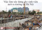 Thực trạng đau lòng việc làm xây dựng cho sinh viên mới ra trường tại Hà Nội không yêu cầu kinh nghiệm
