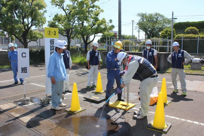 Lắp đặt đường ống nước LƯƠNG CAO tại Fukushima Nhật Bản tháng 7/2018