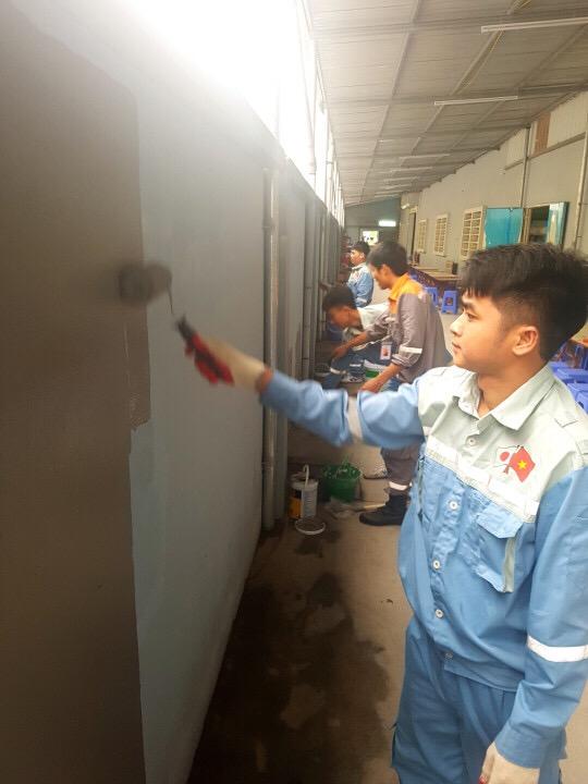 Video thi tuyển tay nghề đơn hàng sơn xây dựng tại MD Việt Nam