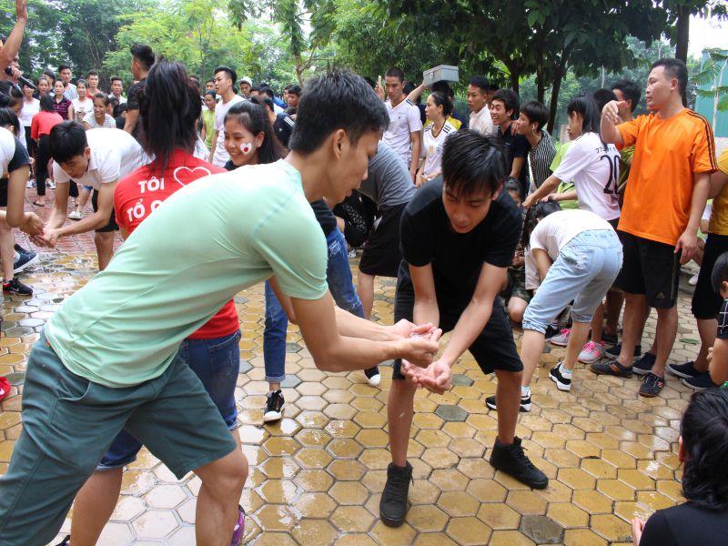 Tưng bừng hội khỏe thể dục tại trung tâm đào tạo laodongnhatban.com.vn