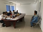 Cận cảnh thi tuyển đơn hàng ốp lát gạch tại laodongnhatban.com.vn