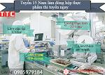 Tuyển 15 Nam đóng hộp thực phẩm siêu hot làm trong nhà xưởng tháng 6/2020