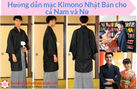 Hướng dẫn cách mặc Kimono Nhật Bản chuẩn dáng cho cả Nam và Nữ