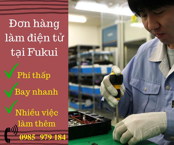 Cần gấp 25 Nam làm Điện tử tại Fukui Nhật Bản gia hạn lên đến 5 năm
