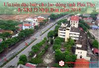 Đặc biệt ưu tiên cho 250 lao động tỉnh Phú Thọ đăng ký đi XKLĐ Nhật Bản năm 2018