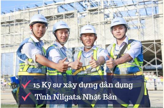 GẤP 15 Kỹ sư Xây dựng Dân dụng làm việc tại Niigata- LƯƠNG CAO, KHÔNG YÊU CẦU TIẾNG