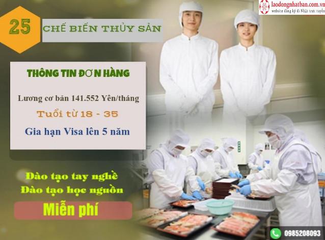 TUYỂN GẤP: Đơn hàng truyền thống tuyển 15 Nam/ Nữ chế biến thủy sản