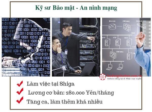 Tuyển 30 Kỹ sư bảo mật, An ninh mạng làm việc tại Shiga Nhật Bản