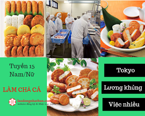 Tuyển 15 Nam/Nữ làm chả cá tại Tokyo Nhật Bản, Việc làm thêm nhiều