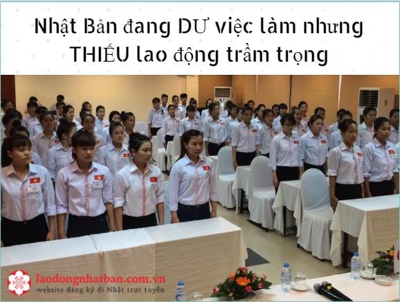 Thực trạng dư việc làm, thiếu lao động tại Nhật Bản sẽ là cánh cửa LỚN cho TTS Việt.