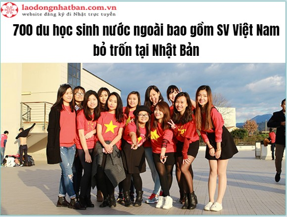 700 du học sinh nước ngoài bao gồm SV Việt Nam bỏ trốn, mất liên lạc tại một trường Đại học ở Nhật Bản