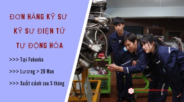 [NÓNG] Tuyển 30 Nam đơn hàng kỹ sư điện tử tự động hóa tại Fukuoka, PHÍ CỰC THẤP