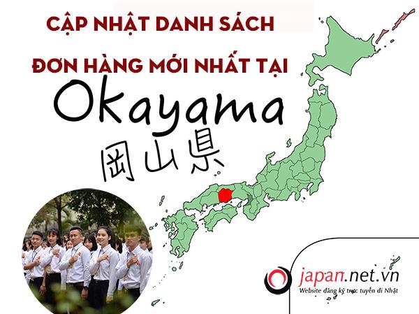 Cập nhật danh sách đơn hàng mới nhất tại Okayama, Nhật Bản