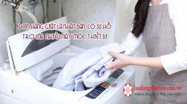Công việc thực tế đơn hàng giặt là Nhật Bản