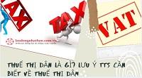 Thuế thị dân là gì? Lưu ý TTS cần biết về thuế thị dân