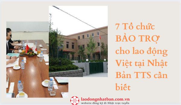 7 Tổ chức BẢO TRỢ cho lao động Việt tại Nhật Bản TTS cần biết