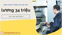 Đơn hàng chỉnh sai số máy CNC tại Ehime lương 33 triệu/tháng