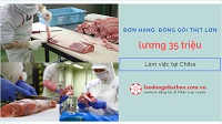 Đơn hàng sơ chế và đóng gói thịt lợn lương 35 triệu/tháng tại Chiba