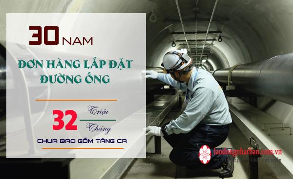 SIÊU HOT- Tuyển 30 Nam đơn hàng lắp đặt đường ống tại Hyogo- NHIỀU LÀM  THÊM