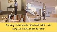 Đơn hàng vệ sinh tòa nhà diện visa đặc định - mức lương CỰC KHỦNG