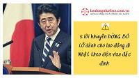 5 lời khuyên ĐỪNG BỎ LỠ dành cho lao động đi Nhật theo diện visa đặc định