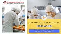 Đơn hàng chế biến thức ăn kèm tại Chiba lương 36 triệu/tháng