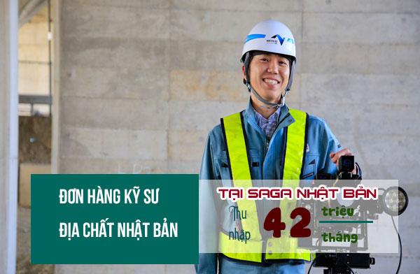 ĐƠN VIP: Tuyển 24 Nam đơn hàng kỹ sư địa chất tại Saga, lương trên 40 triệu/tháng