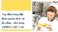 Top 10 đơn hàng đặc định ngành dịch vụ ăn uống - nhà hàng LƯƠNG CỰC CAO