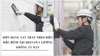 Đơn hàng xây trát theo diện đặc định tại Okinawa lương khủng 22 man