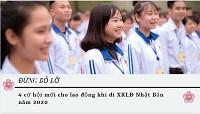 Đừng bỏ lỡ - 4 cơ hội mới cho lao động khi đi XKLĐ Nhật Bản năm 2020