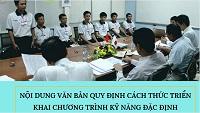 Chương trình kỹ năng đặc định đã chính thức được triển khai tại Việt Nam