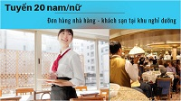 Đơn hàng đặc định nhà hàng - khách sạn làm ở khu nghỉ dưỡng lương cực cao
