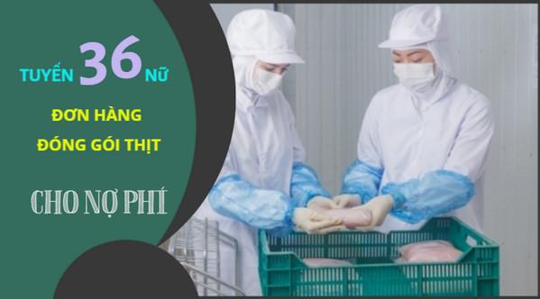 SIÊU HOT- Đơn hàng cho NỢ PHÍ đóng gói thịt tuyển gấp 36 nữ