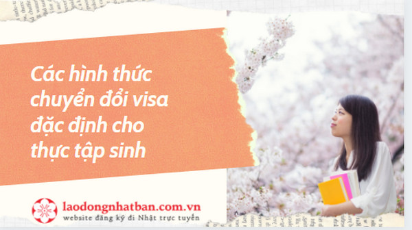 Các hình thức chuyển đổi visa đặc định cho thực tập sinh
