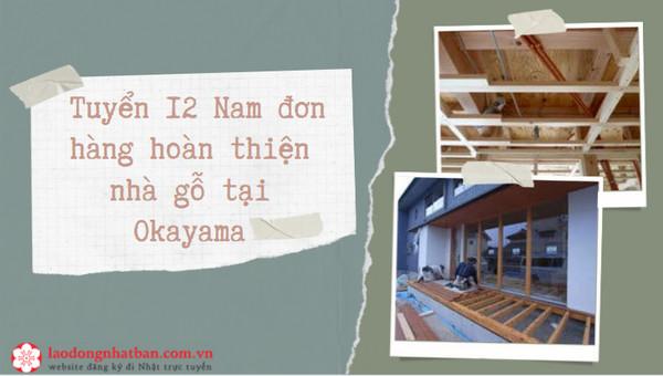 HOT - Tuyển 12 Nam đơn hàng hoàn thiện nhà gỗ tại Okayama PHÍ CỰC THẤP